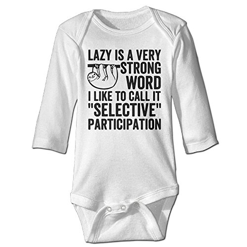 Messed Up Baby Costumes (Fashion Baby Boys & Girls Lazy Is A Very Strong Word Long-sleeve Bodysuit)
