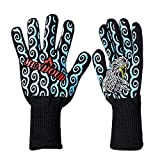 Oven Mitts Oven Sleeves - 1 Pc Aramid Fire Insulation Gloves Heat Resistant Glove 932f Bbq Oven Support - Cover Bbq Fire Shield Special Crystal Kitchen Glove Shield Proof Bat
