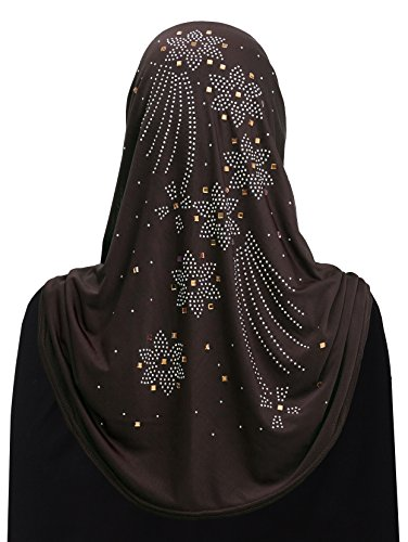 Al Amira 1 piece Aiyah Hijab Ultra Silky Lycra (Brown)