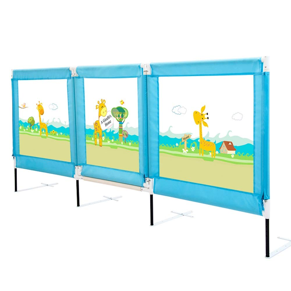 Xyanzi-ガードレールフェンス 幼児用ベッドレール、幼児用オープンドアメッシュベッドレール幼児用ベッドレールスラット&ボックススプリング用ユニバーサルフィット (色 : 青, サイズ さいず : 1.5m) B07S48JKRS 青 1.5m