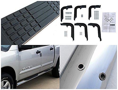 Spec-D Tuning SSB4-TIT04CCS2-WB Nissan Titan Crew Cab Chrome 4 Oval S//S Side Step Bars Running Boards