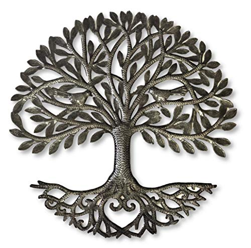it's cactus - metal art haiti Haitian Family Tree of Life, Decorative Wall Sculpture, Home Decor Wall Hangings, Family Tree, Roots, Flowers, 24
