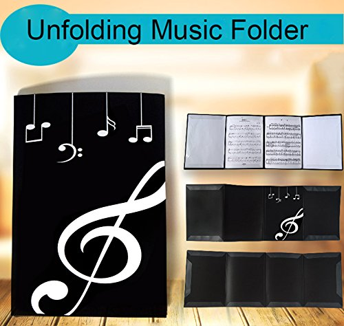 - Presentation Folder Unfold Music Holder Glossy Six Pages.(Black)