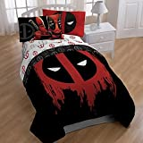 Deadpool Twin/Full Comforter and Full Sheets