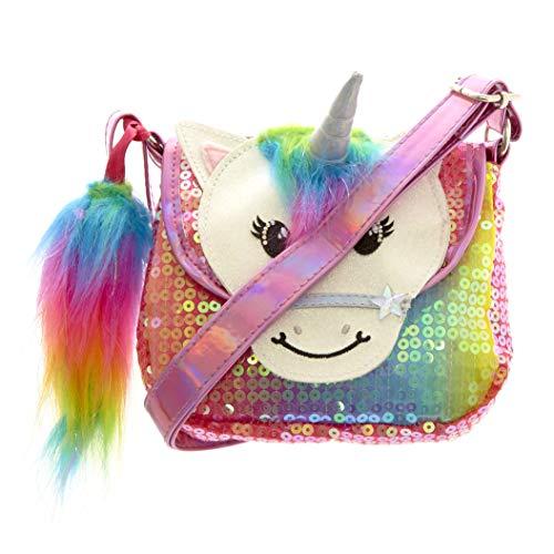 Claire's Club Girl's Claire's Club Starbright the Unicorn Rainbow Unicorn Sequin Purse - S