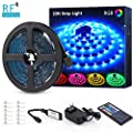 Novostella 20ft RGB LED Strip Light kit, Flexible Color Changing 180 Units SMD 5050 LEDs, 12V LED Tape with 44 Key RF Remote, Dimmable LED Ribbon for Home Lighting Kitchen Bar,UL Listed Power Supply