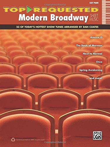 Top-Requested Modern Broadway Hits: 23 of Today's Hottest Show Tunes (Easy Piano) (Top-Requested Sheet Music)