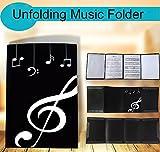 Presentation Folder Unfold Music Holder Glossy Six Pages.(Black)
