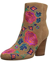 Women's Nash Floral Embroidery Oval Heel Ankle Bootie
