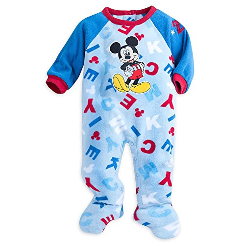 Disney Store Mickey Mouse Snap Blanket Sleeper Footed for Baby (Mickey)