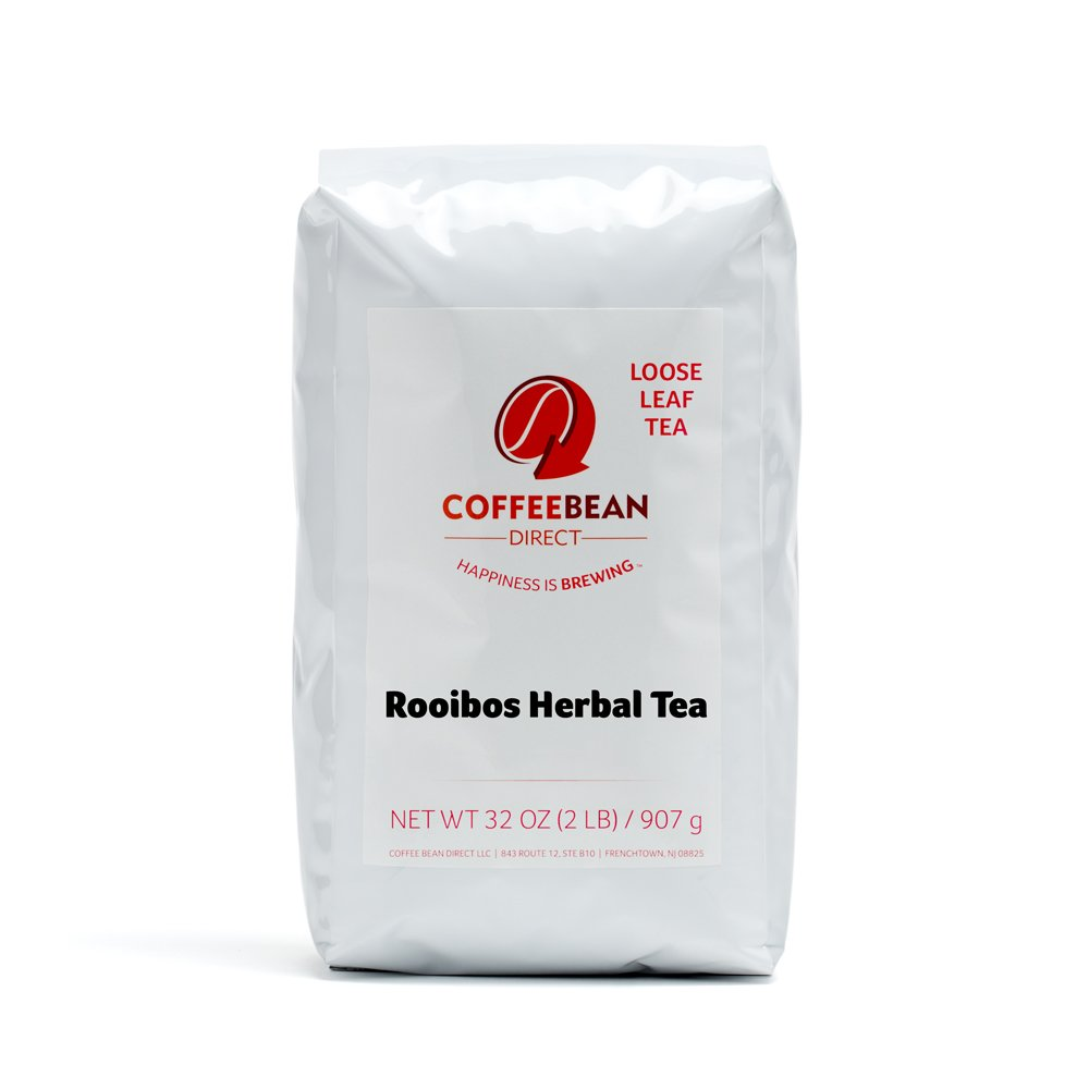 Coffee Bean Direct Rooibos Loose Leaf Tea, 2 Pound Bags (Pack of 2)