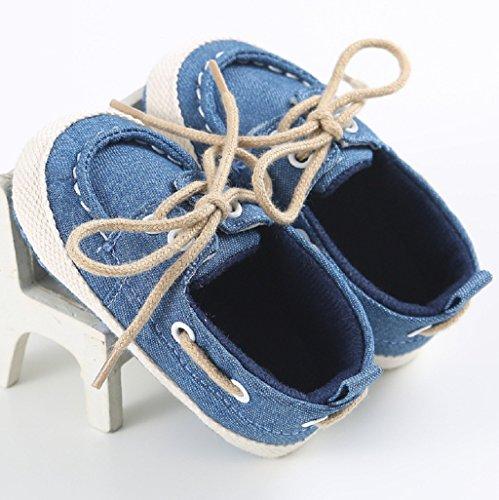 Baby Schuhe Auxma Nettes Baby Säuglings kind Jungen Mädchen weiche alleinige Segeltuch Turnschuhe kleinkind schuhe Für 3-18 Monate Blau