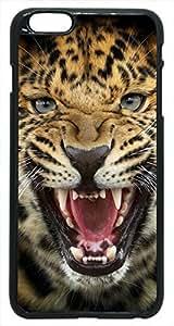 Generic Leopard Snarl Animal Hard Case for iPhone 6 Black