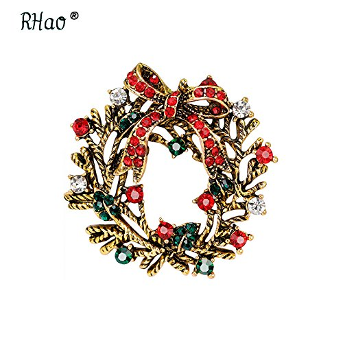 Chrisas wreath bow shape creative personality brooch brooch stars elk sleigh Chrisas stockings (Shape Sleigh)