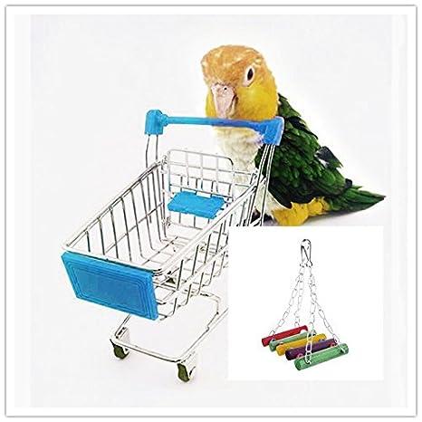 Bird Toy Parrot Parakeet Budgie Hamaca Columpio de jaula de ...