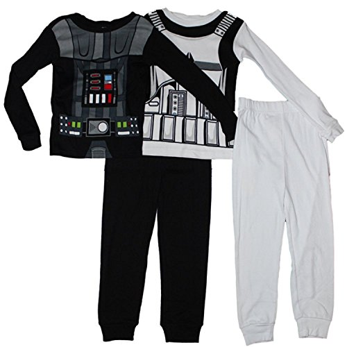 Star Wars Vader and Trooper Boys Pajamas 2-Pack 4-10  5KvYY0501402 ... 595bb20f3