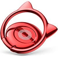Baseus Cat Phone Ring Holder Stand, Ring Grip Light 360 Degree Rotation Universal for iPhone Andriod Smartphones - Red