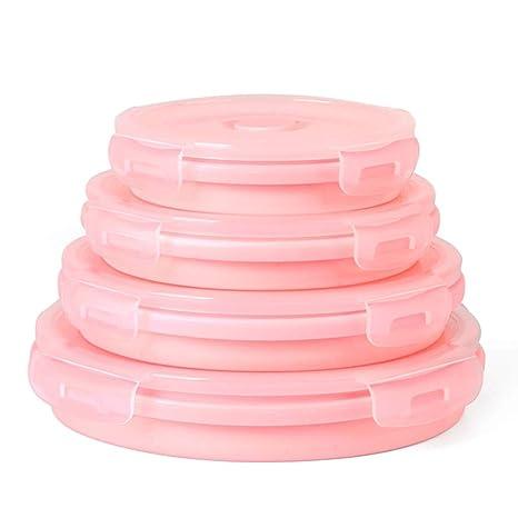 Folding bowl Fiambrera Plegable de Silicona para microondas ...