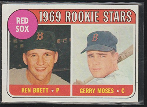 1969 Topps Ken Brett/Gerry Moses Red Sox Rookie Stars Baseball Card #476 (Red Sox Nascar)