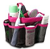 ONEVER Shower Organiser Quick Dry Hanging Shower Caddy Toiletry Organiser Cosmetic Storage Bags Mildew Resistant Water Resistant for Home Travel GYM Dorm Camp Bathroom