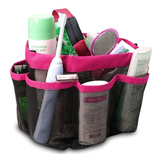 Shower Caddy Portable Bathroom Hanging Mesh Bag Storage Bag - 4