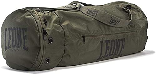 Leone 1947 Sporting Bag Boxing Martial Arts Muay Thai MMA Karate Fitness Gym Bag khaki, One_Size