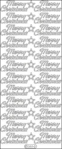 Elizabeth Craft Designs Merry Christmas Peel-Off Stickers, - Christmas Offs Peel