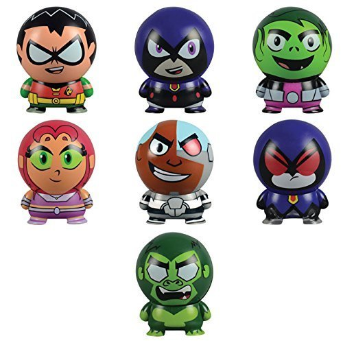 Teen Titans Go! Collectible Characters: Buildables - Set of 7 -