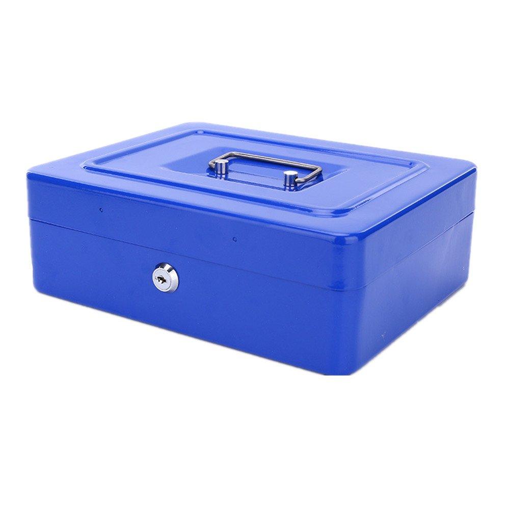 jaune Grande caisse fer Safe Box Plateau avec compartiment pour monnaie Monnaie V/érifications de factures