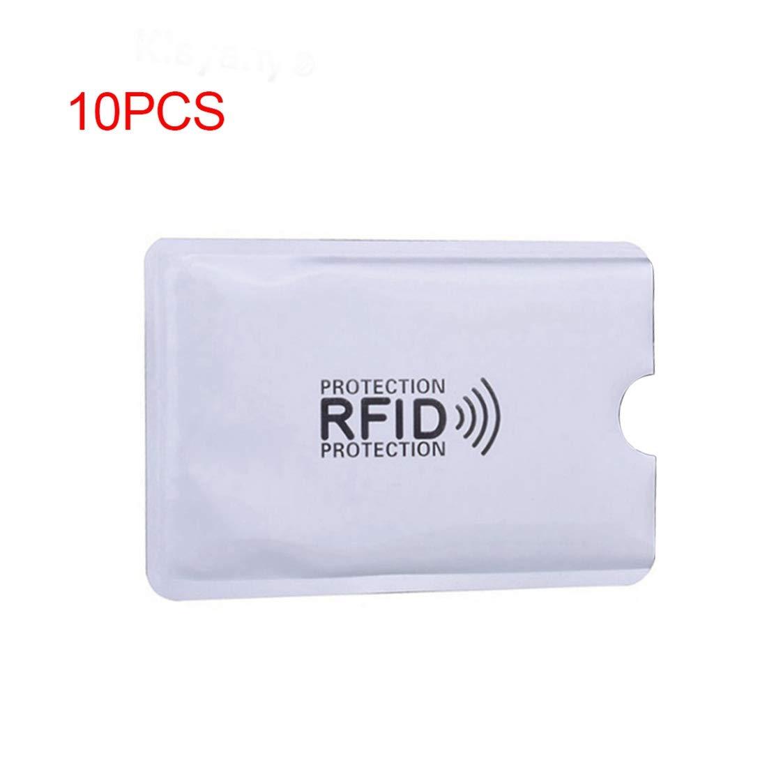TOOGOO 10 pz foglio di alluminio anti-smagnetizzazione della copertura della carta RFID sacchetto di protezione carta di credito NFC anti-furto id card protector