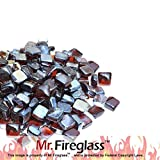 Mr. Fireglass 1' Reflective Fire Glass Cubes with Fireplace and...
