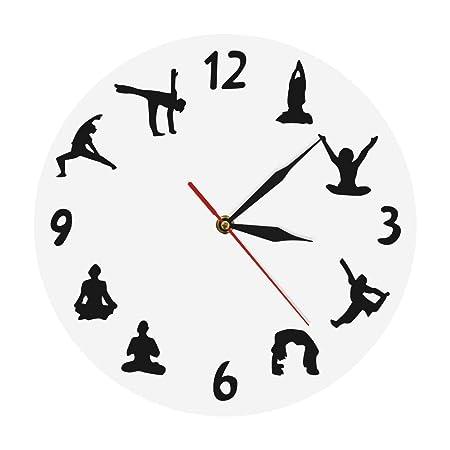 YJSMXYD Reloj De Pared Om Yoga Zen Studio Meditación ...