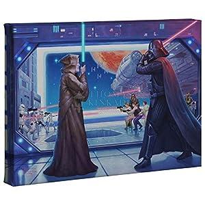 Thomas Kinkade Studios Star Wars Art OBI-WANS Final Battle 10 x 14 Gallery Wrap Canvas