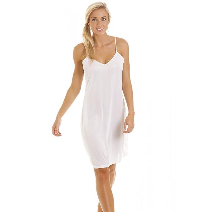 Camisón/combinación para mujer - Tallas 38 a 52 - Blanco 38