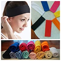 Cosmos Stretchy Cotton Yoga Sport Headband, Assorted Dark Colors, 5 pack from Cosmos