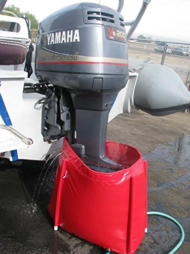 Outboard Motor Flushing Bag Model SDB2 for Large Outboard Engines up to 200 HP & Stern drives. Made in the USA. by Quality Marine Products (Image #1)