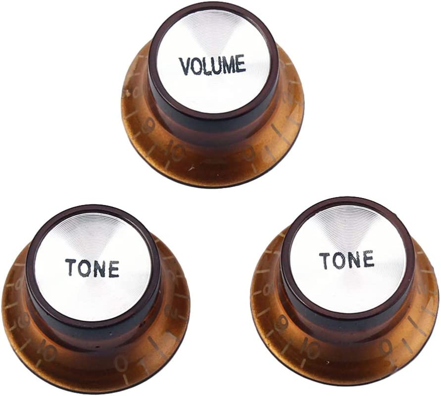 Light Brown Milisten 3pcs Guitar Knob Volume Tone Control Knobs Bass Guitar Replacement Speed Knob for Electric Bass Guitar