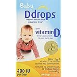 Ddrops Baby 400 IU, Vitamin D, 90 drops 2.5mL (0.08 fl.oz)