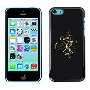 YiPhone /// Prima de resorte delgada de la cubierta del caso de Shell Armor - Sweat The Mall Typography - Apple iPhone 5C