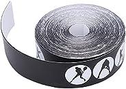 Protetor de cabeça de raquete de tênis durável sem cola restante Fita de proteção da raquete Fita leve de prot