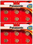Panasonic CR2032 Lithium Coin Battery (12 Batteries)