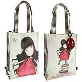 Borsa Shopping Bag Media Gorjuss New Heights Beige Fucsia - 290GJ05