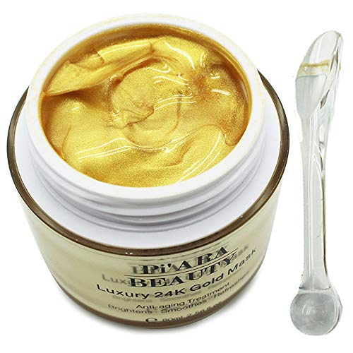 Premium 24K Gold Facial Mask With a Mask Brush - Rejuvenating Anti-Aging Face Mask for Flawless Skin - Remove Fine Lines, Clears Acne, Moisturizers, Hydrates and Leaves The Skin Radiant -