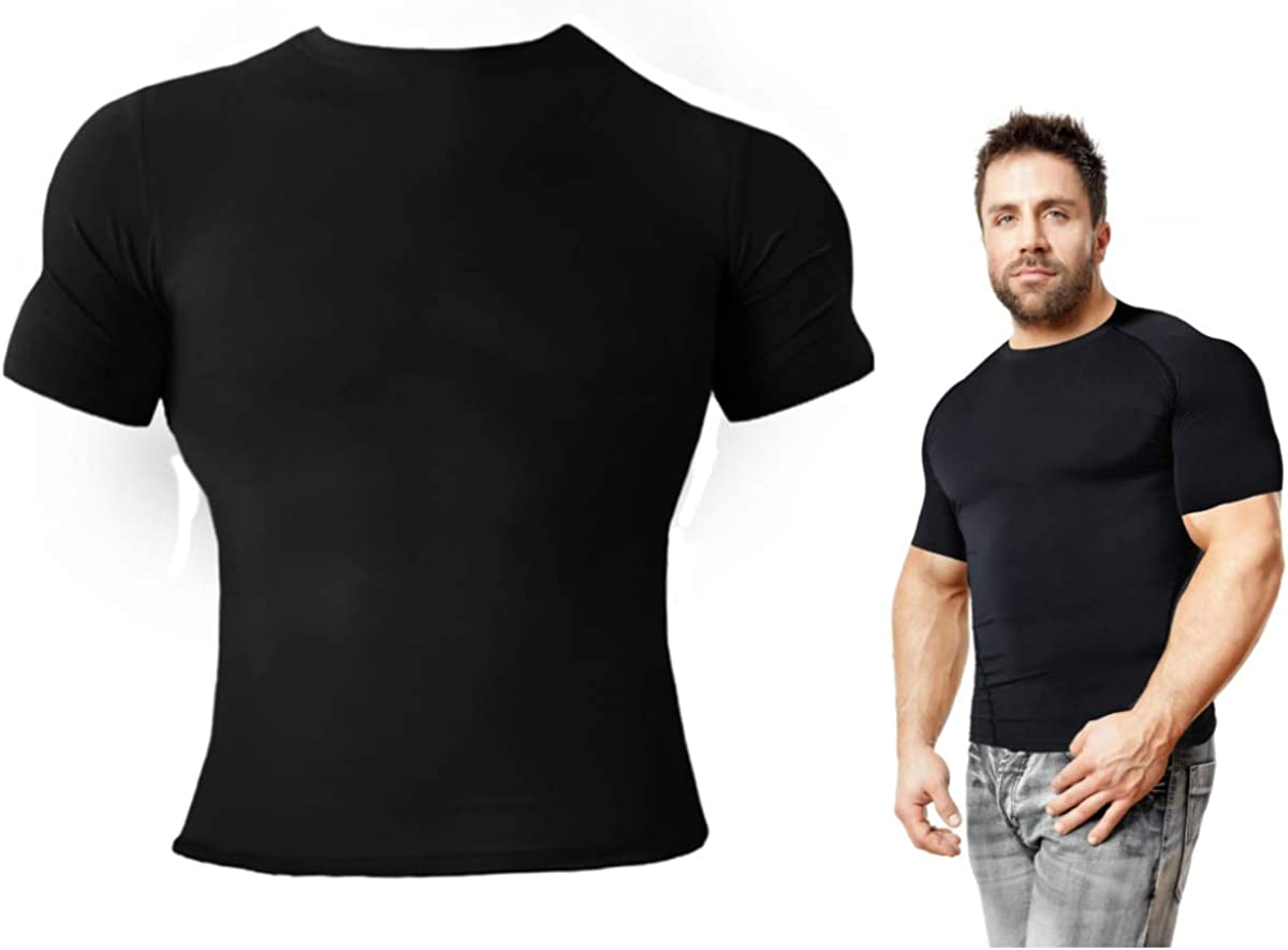 Copper Compression Short Sleeve Mens Recovery T-Shirt Support Fit for Men