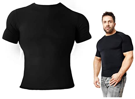 91346bb8 Copper Compression Short Sleeve Men's Recovery T Shirt. Highest Copper  Content Guaranteed. Support Sore & Stiff Muscles & Joints.