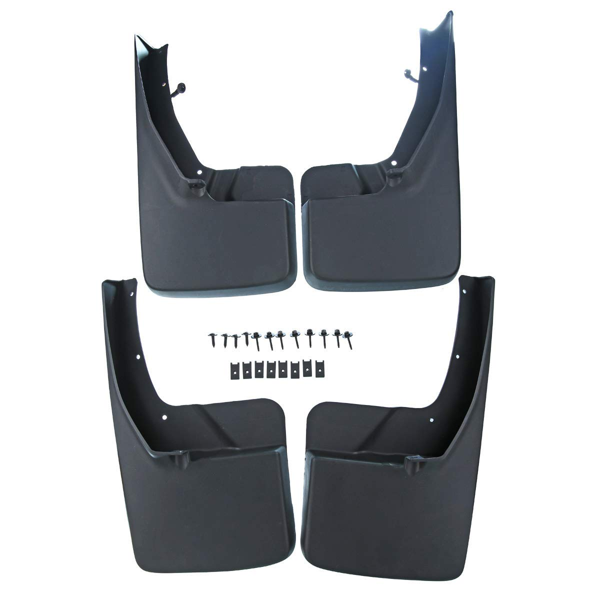 A-Premium Splash Guards Mud Flaps Mudflaps for Dodge Ram 1500 2500 3500 2009-2017 Without Factory Fender Flares Front and Rear 4-PC Set PremiumpartsWhosale