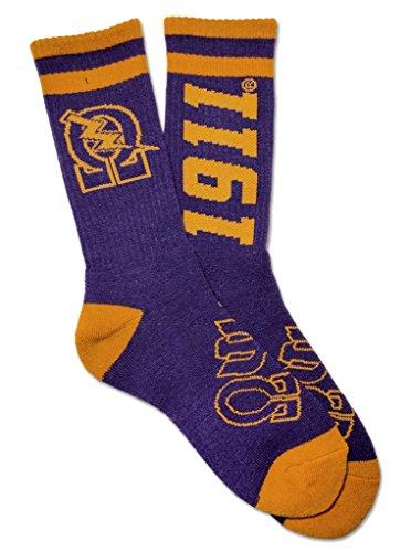 Omega Psi Phi Fraternity Mens New Athletic Socks (Omega Psi Phi Clothing)