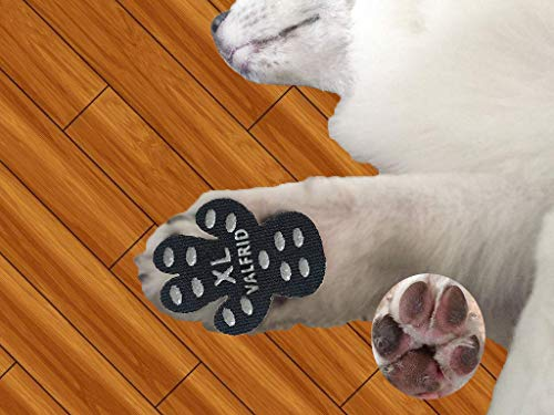 - VALFRID Dog Paw Protector Rugged Anti Slip 24 Pieces,Disposable Self Adhesive Resistant Dog Shoes Booties Socks Replacemen XL