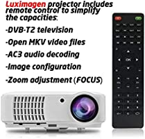 Proyector Full HD 1080P, LUXIMAGEN HD520 (2018 NUEVO), Proyector barato maxima luminosidad Portátil LED Cine en casa 1920x1080 AC3 2 x HDMI TV TDT USB ...