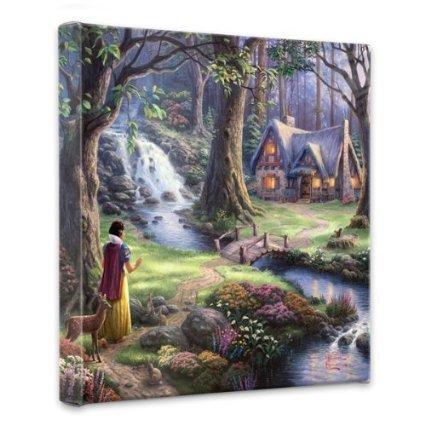Thomas Kinkade Snow White Discovers Gallery Wrap Canvas